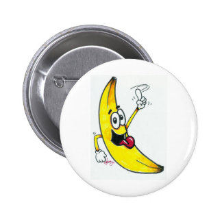 Top Banana, dancing banana cartoon 6 Cm Round Badge