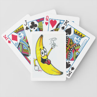 Top Banana, dancing banana cartoon Bicycle Playing Cards