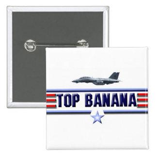 Top Banana Logo 15 Cm Square Badge