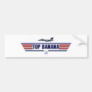 Top Banana Logo Car Bumper Sticker