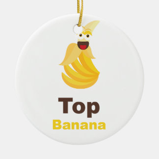 Top Banana Round Ceramic Decoration
