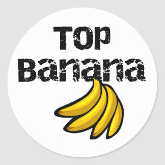 Top Banana Round Sticker