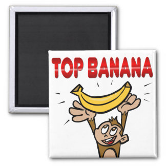 Top Banana Square Magnet