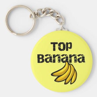 Top Banana Tshirts and Gifts Basic Round Button Key Ring