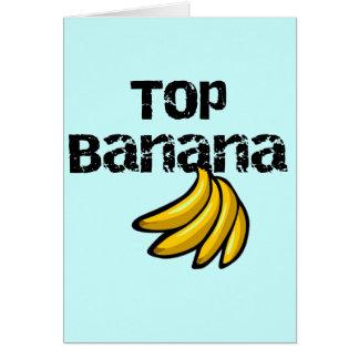 Top Banana Tshirts and Gifts Greeting Card
