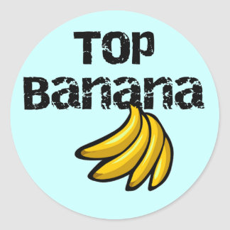 Top Banana Tshirts and Gifts Round Sticker