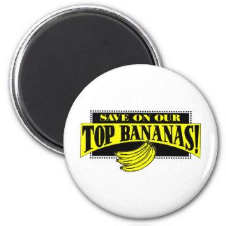 Top Bananas 6 Cm Round Magnet