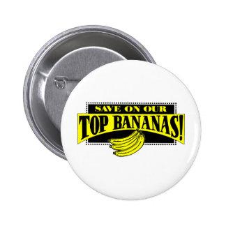 Top Bananas Pinback Button
