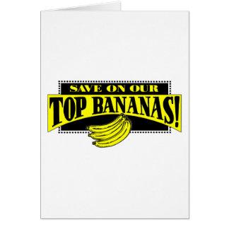 Top Bananas Greeting Card