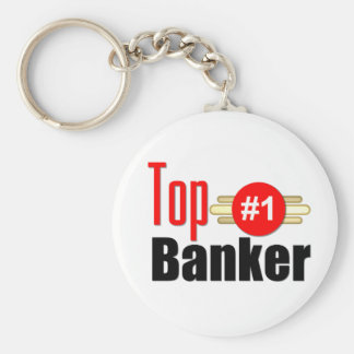 Top Banker Basic Round Button Key Ring