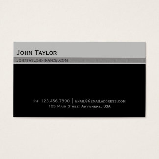 Top Bar Exec Business Card