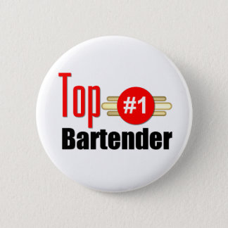 Top Bartender 6 Cm Round Badge