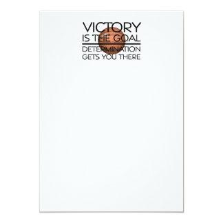 TOP Basketball Victory Slogan 13 Cm X 18 Cm Invitation Card