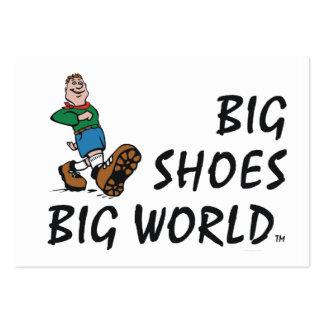 TOP Big Shoes Big World Business Card Templates