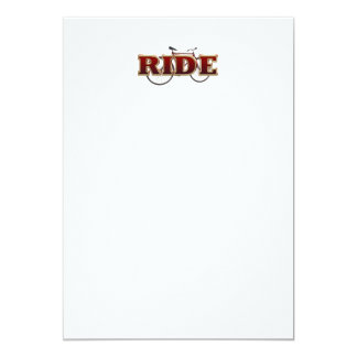 TOP Bike Ride 13 Cm X 18 Cm Invitation Card