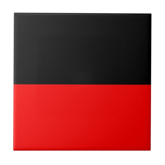 top black bottom red DIY custom background templat Small Square Tile