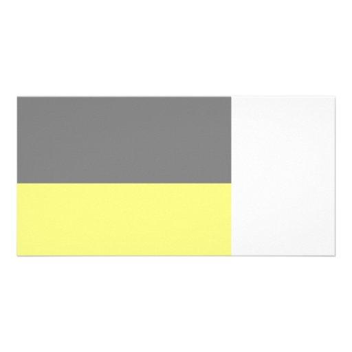 top black bottom yellow 50 lightness DIY custom Photo Cards