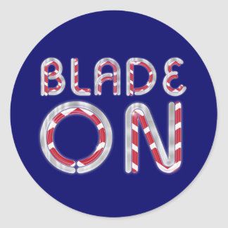 TOP Blade On Round Sticker