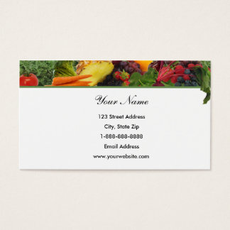 Top Border Fruit - Veggie Business Card