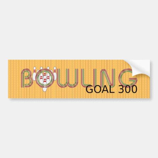 TOP Bowling Goal 300 Bumper Sticker