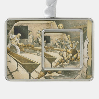 TOP Bowling Old School Silver Plated Framed Ornament
