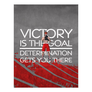 TOP Boxing Victory Slogan 21.5 Cm X 28 Cm Flyer