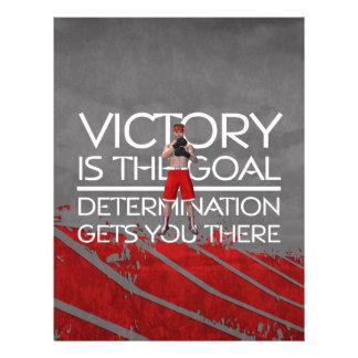 TOP Boxing Victory Slogan Flyer Design