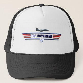 Top Boyfriend Logo Trucker Hat