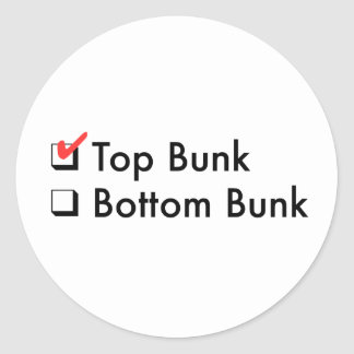 Top Bunk Stickers