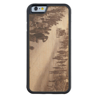 TOP Car Race Old School Carved Maple iPhone 6 Bumper Case