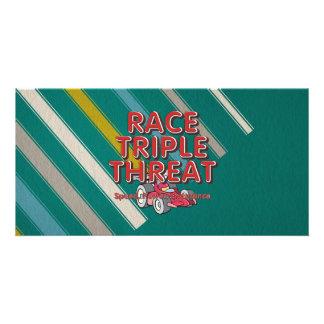 TOP Car Race Triple Threat Customized Photo Card