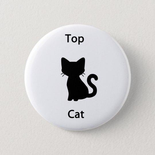 Top cat 6 cm round badge