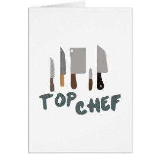 Top Chef Greeting Card