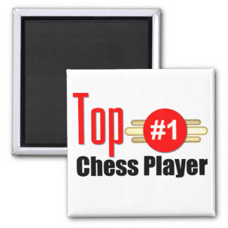Top Chess Player Square Magnet