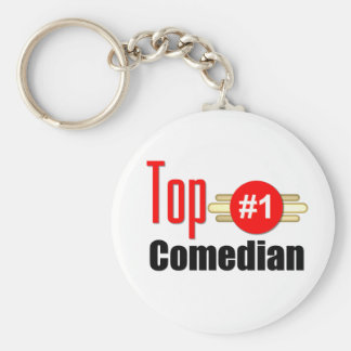 Top Comedian Basic Round Button Key Ring
