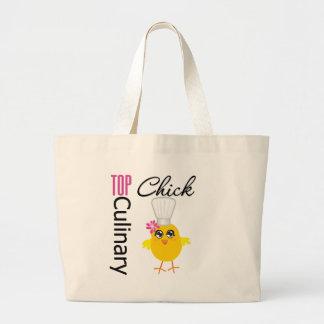 Top Culinary Chick Jumbo Tote Bag