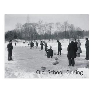TOP Curling Old School Postcard