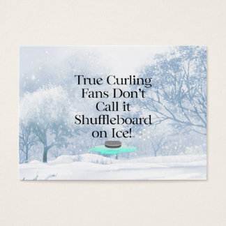 TOP Curling Slogan Business Card