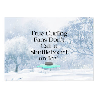 TOP Curling Slogan Pack Of Chubby Business Cards