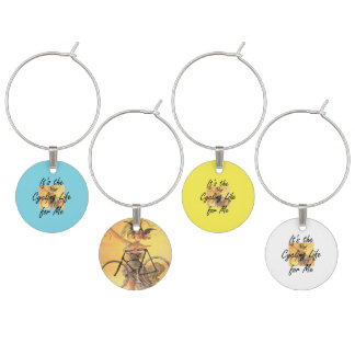 TOP Cycling Life for Me Wine Charm