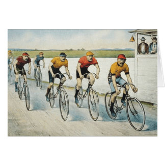 TOP Cycling Old School Greeting Card