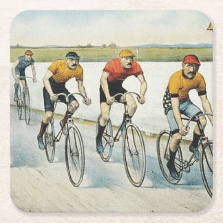 TOP Cycling Old School Square Paper Coaster