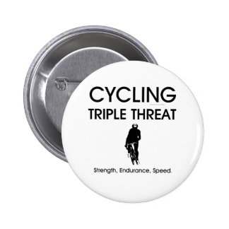 TOP Cycling Triple Threat 6 Cm Round Badge