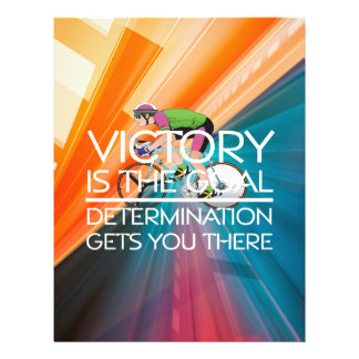 TOP Cycling Victory Slogan 21.5 Cm X 28 Cm Flyer