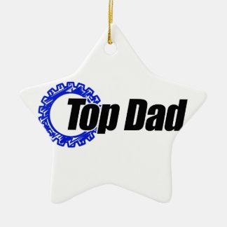 Top Dad Ceramic Star Decoration