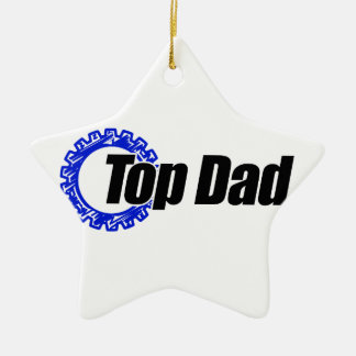 Top Dad Christmas Ornament