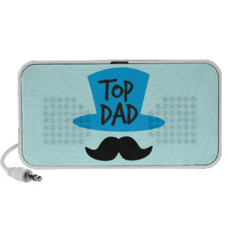 TOP DAD top hat and moustache iPod Speakers