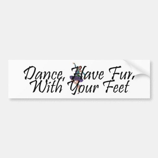 TOP Dance Fun Bumper Stickers
