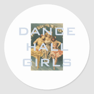 TOP Dance Hall Girls Round Sticker