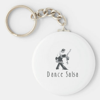 TOP Dance Salsa Basic Round Button Key Ring